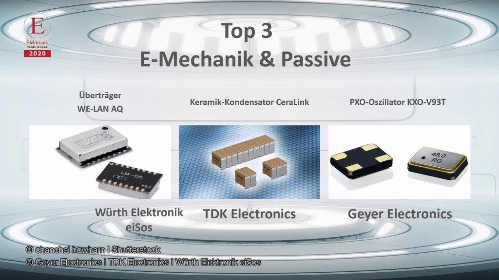 Die »Produkte des Jahres 2020« in der Rubrik »Elektromechanik & Passive Bauelemente«