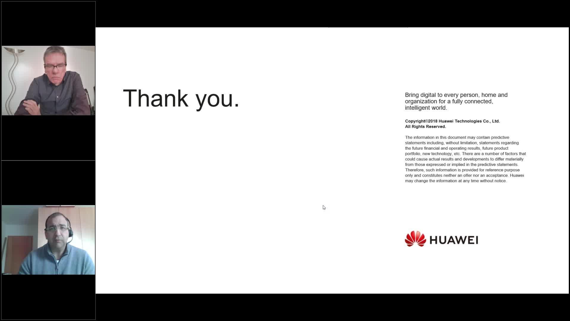 Web-Seminar Huawei 21.10.2020