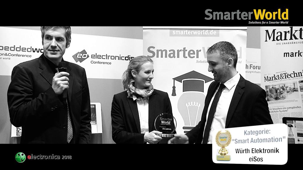 Preisverleihung »SmarterWorld Produkt des Jahres« 2018