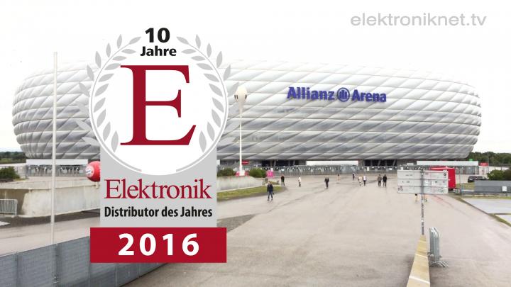 Die Preisverleihung »Elektronik-Distributor des Jahres 2016«