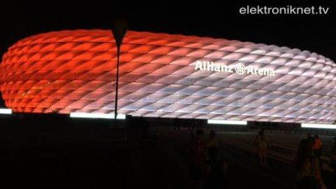 Lichteffekte: Allianz Arena mit neuer LED-Technik