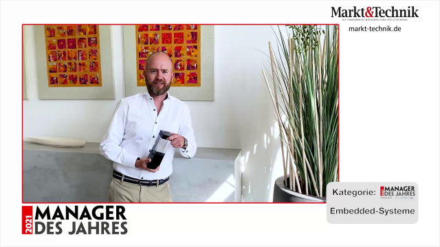 Markt&Technik »Manager des Jahres 2021« in der Kategorie Embedded-Systeme: Martin Stiborski, Geschäftsführer von Bressner Technology. #mdj2021