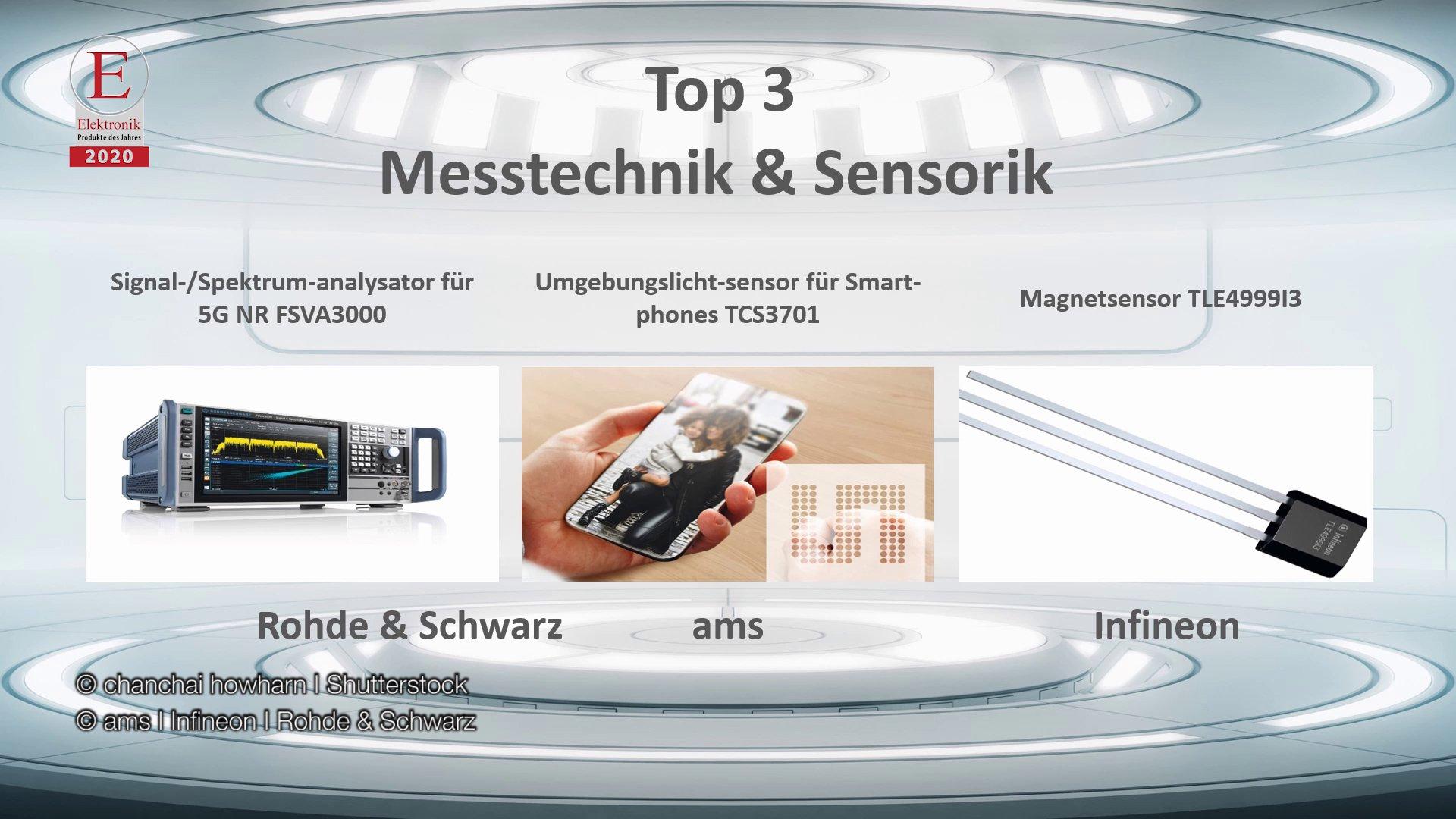 Die »Produkte des Jahres 2020« in der Rubrik »Messtechnik & Sensorik«
