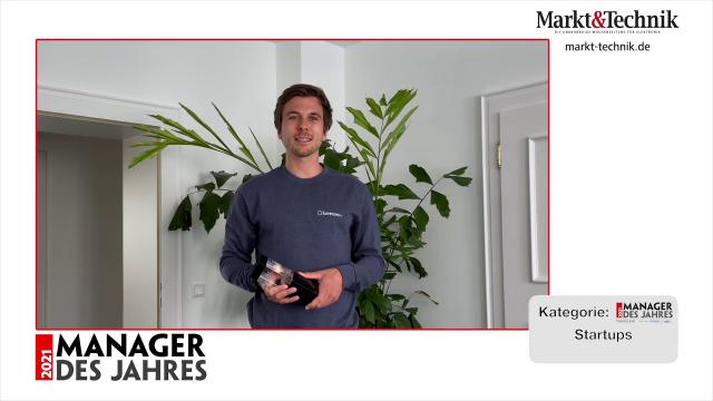 Markt&Technik »Manager des Jahres 2021« in der Kategorie Startups: Sebastian Schaal, Geschäftsführer von Luminovo. #mdj2021