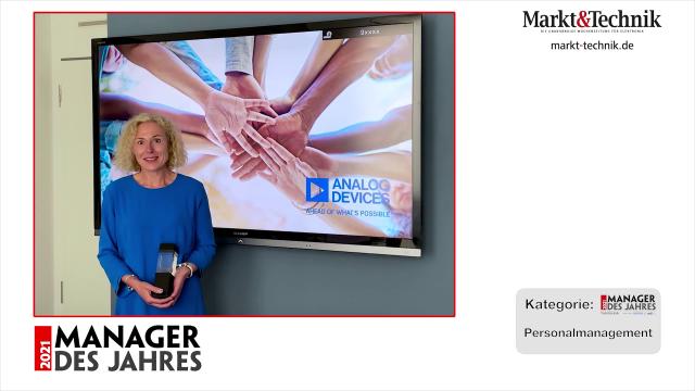 Markt&Technik »Manager des Jahres 2021« in der Kategorie Personalmanagement: Nicole Jahn, Director Human Resources Europe bei Analog Devices. #mdj2021