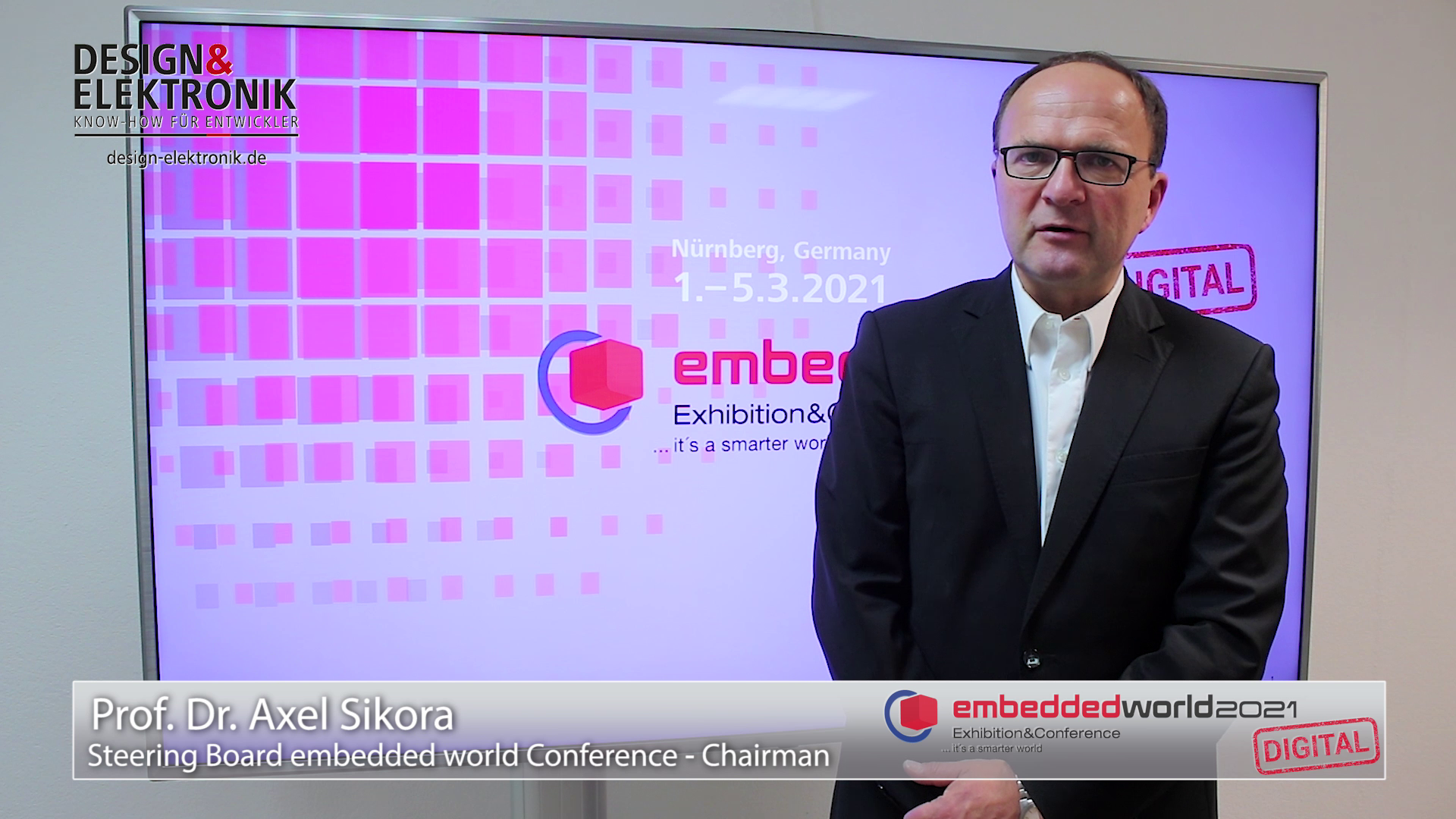 Introduction to embedded world Conference 2021 DIGITAL