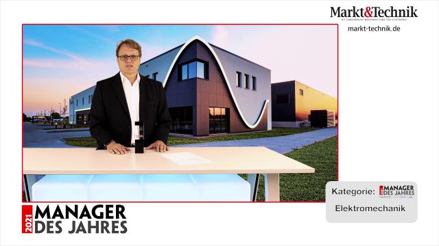 Markt&Technik »Manager des Jahres 2021« in der Kategorie Elektromechanik: Helge Puhlmann, European President von Yamaichi Electronics. #mdj2021