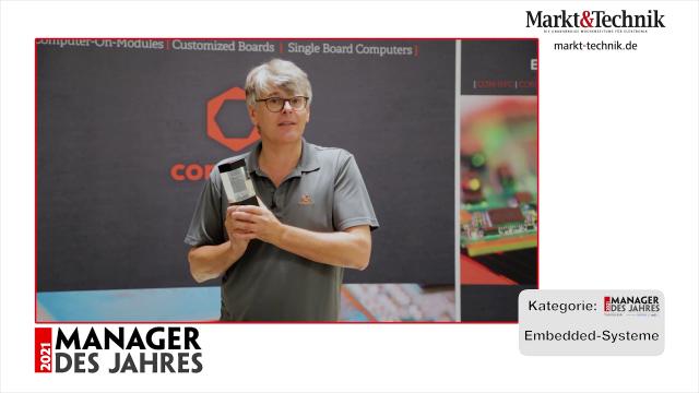 Markt&Technik »Manager des Jahres 2021« in der Kategorie Embedded-Systeme: Christian Eder, Director Marketing von congatec. #mdj2021