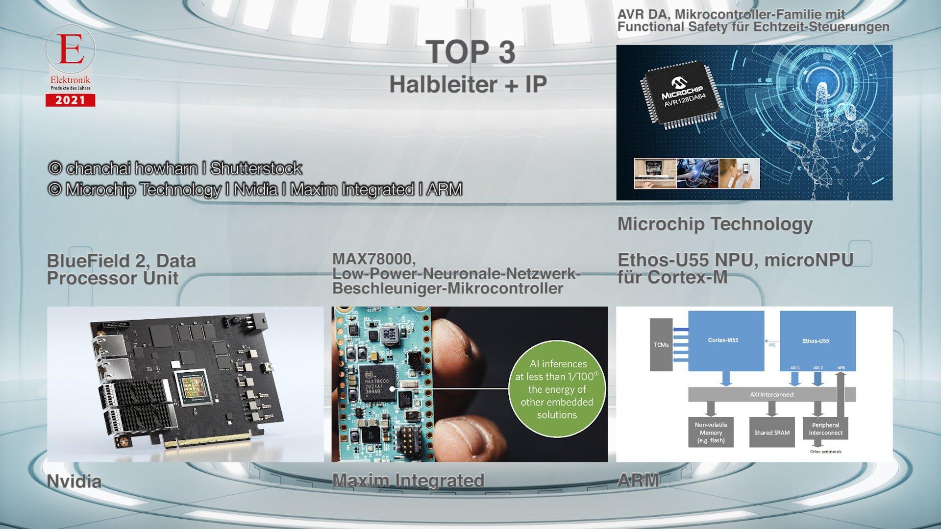 Die »Produkte des Jahres 2021« in der Rubrik »Halbleiter + IP«