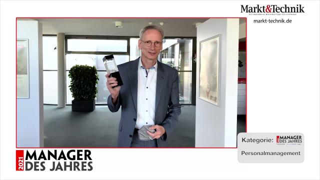 Markt&Technik »Manager des Jahres 2021« in der Kategorie Personalmanagement: Arnt Stumpf, Personalleiter bei Würth Elektronik eiSos. #mdj2021