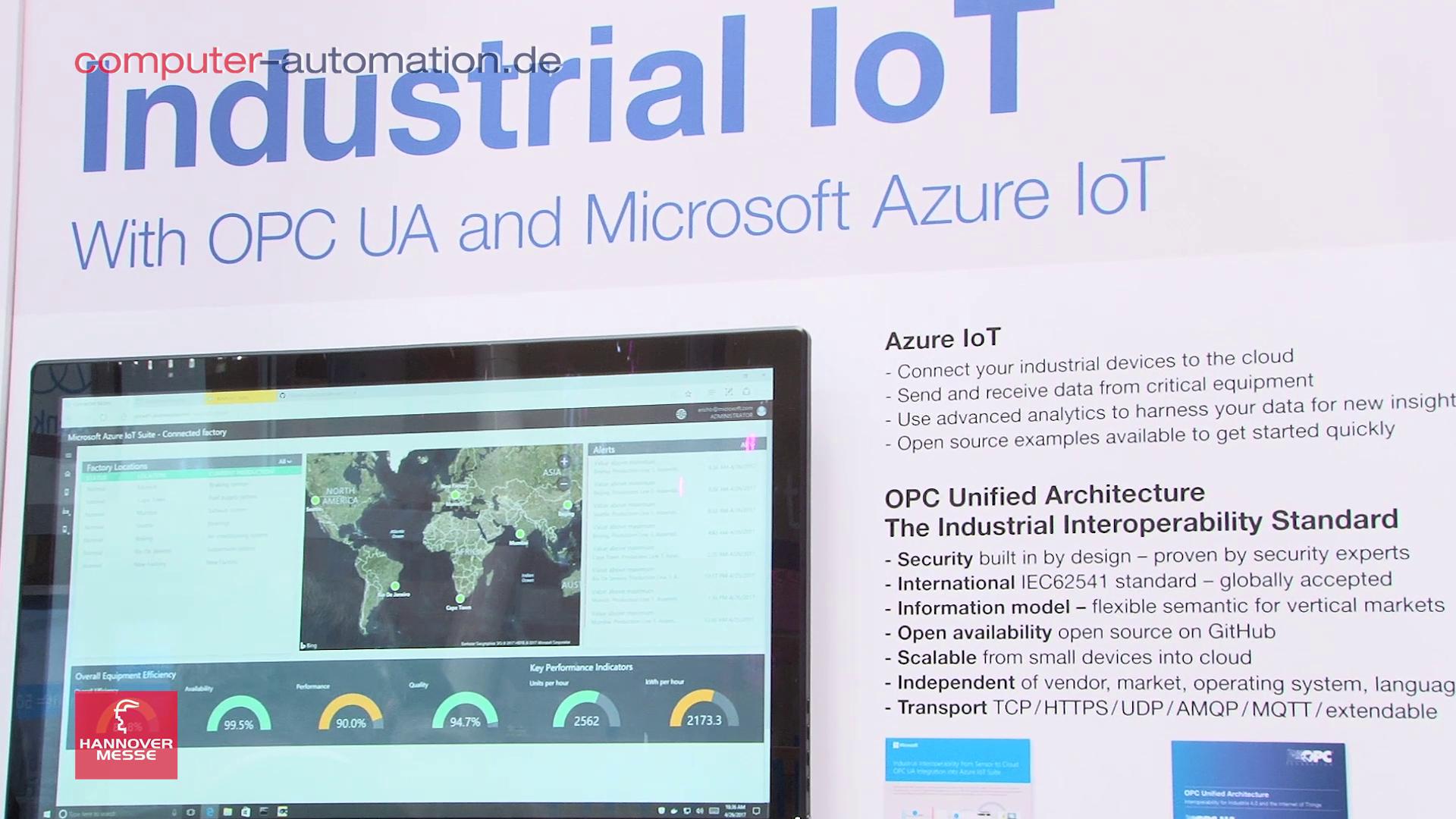 Microsoft: Die OPC-UA-Unterstützung der Azure Cloud