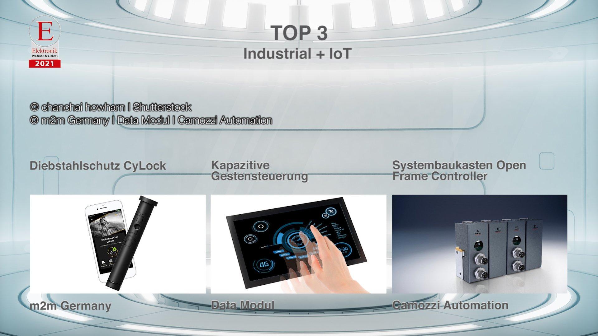 Die »Produkte des Jahres 2021« in der Rubrik »Industrial + IoT«