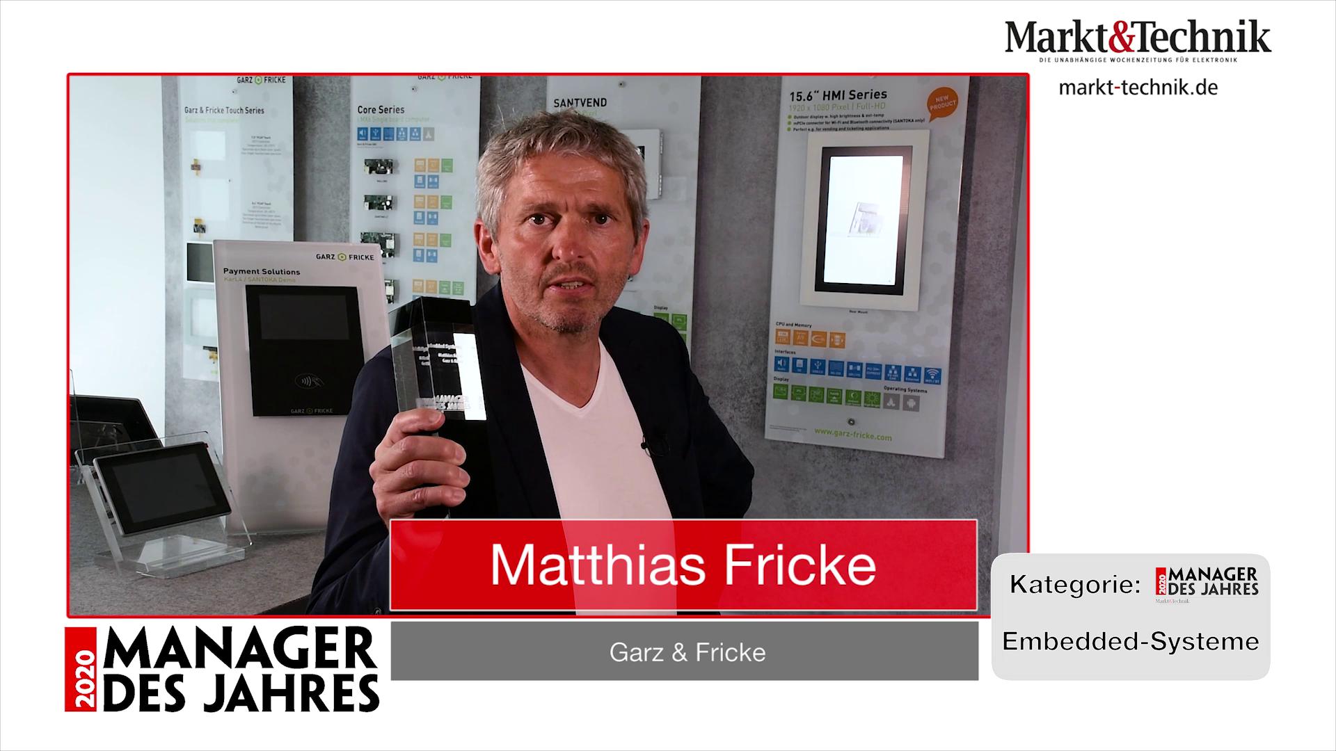 »Manager des Jahres 2020«: Matthias Fricke