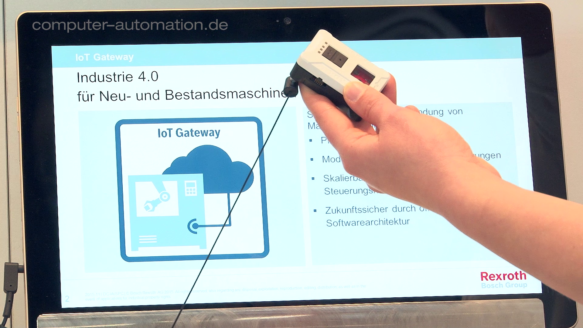 SPS IPC Drives 2016 - Per IoT-Gateway in die Cloud