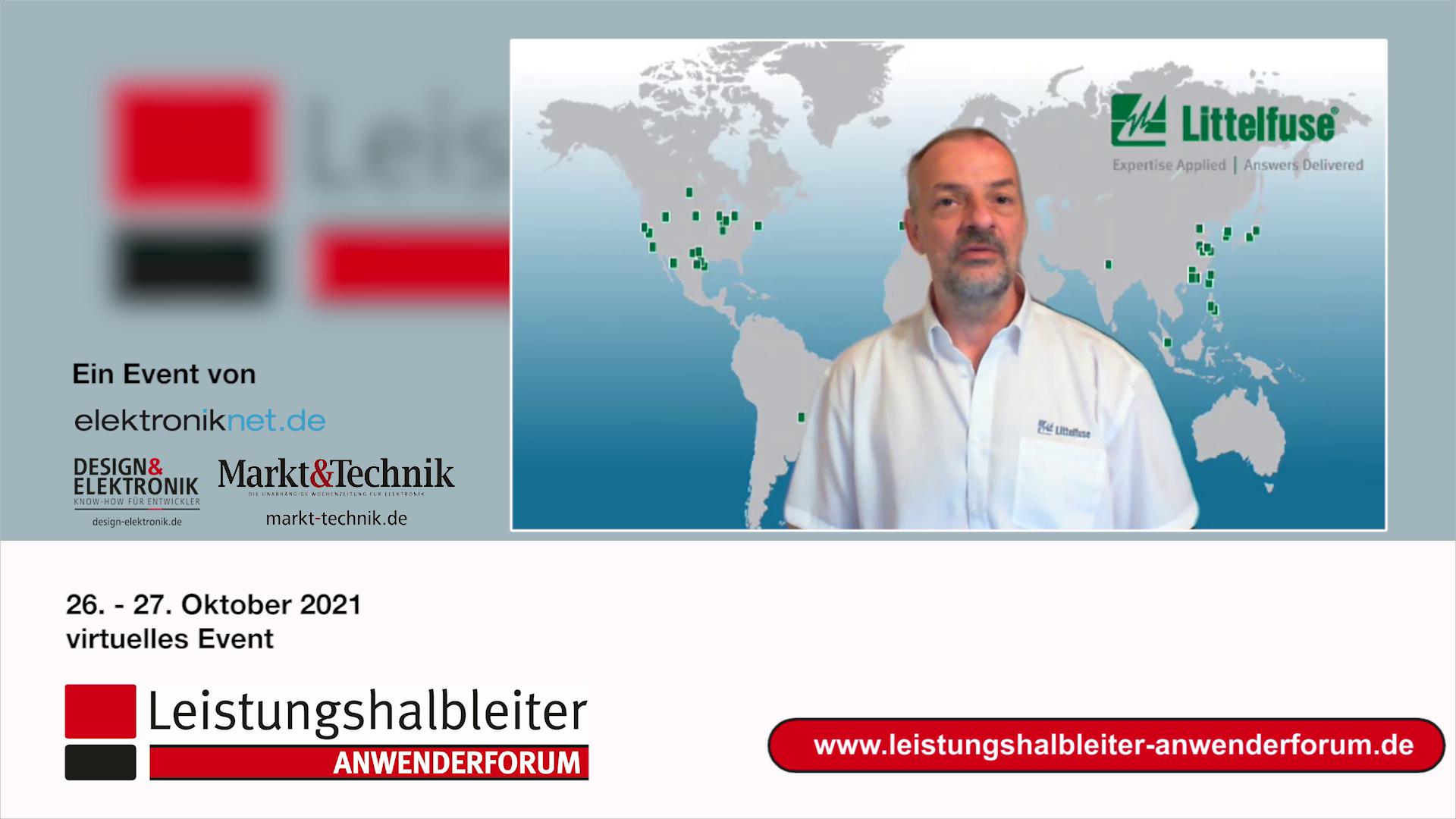 Dr. Martin Schulz, Littelfuse, auf dem Anwenderforum Leistungshalbleiter