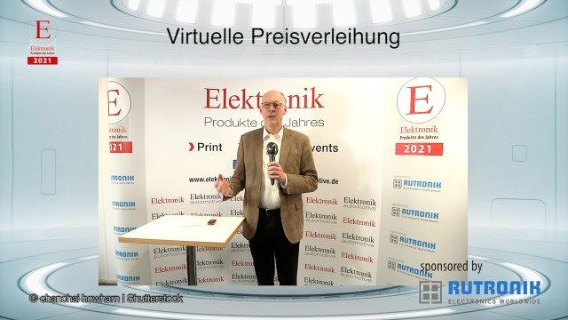 Joachim Kroll, Chefredakteur der Elektronik, begrüßt Sie zur virtuellen Preisverleihung der Elektronik-Leserwahl »Produkte des Jahres 2021«.