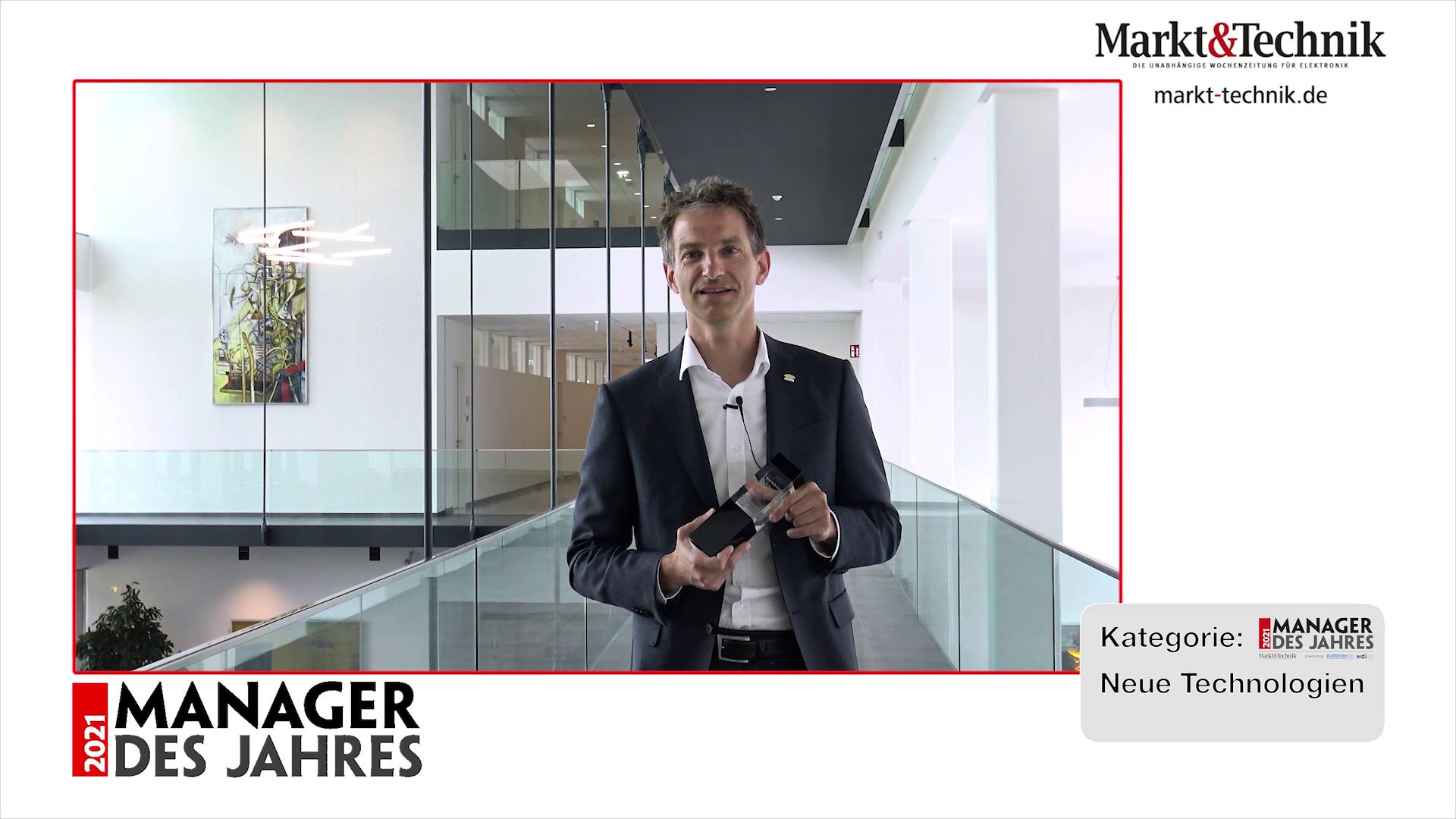 »Manager des Jahres 2021«: Dr. Bernd Thallner