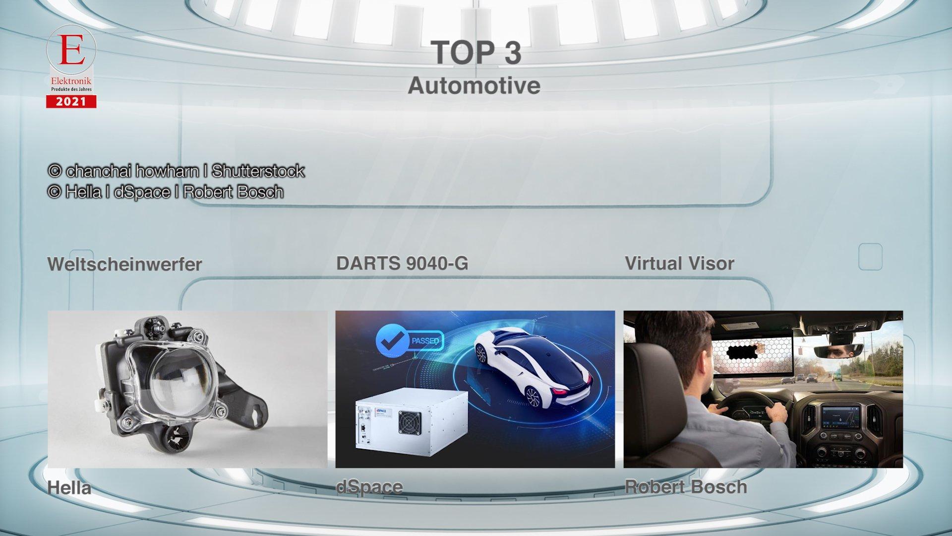 Die »Produkte des Jahres 2021« in der Rubrik »Automotive«