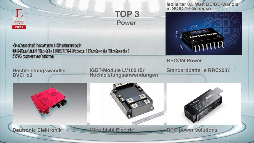 Die »Produkte des Jahres 2021« in der Rubrik »Power«