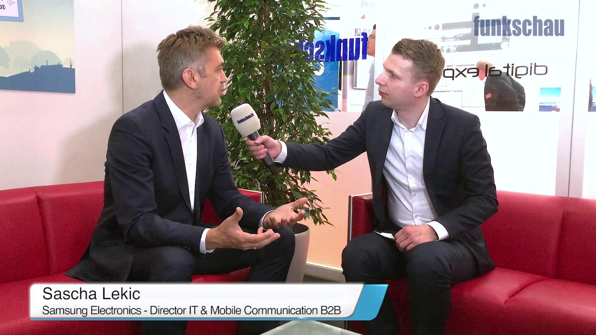 CEBIT-Interview: Sascha Lekic, Samsung
