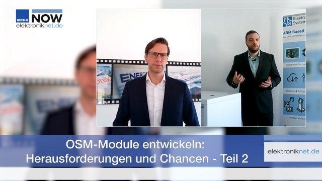 Im ersten Teil des Interviews sprach ich mit Moritz Weber, Produktmanager bei F&S Elektronik Systeme, über die Besonderheiten von OSM-Modulen. Im zweiten Teil geht es um Nachfrage und Verfügbarkeit der Module. Heißes Thema derzeit sind zudem Lieferketten und Bauteilunverfügbarkeiten. Wie sich diese auf die Produktion und die Lieferfähigkeit bei F&S Elektronik Systeme auswirken, erfahren Sie im Video.