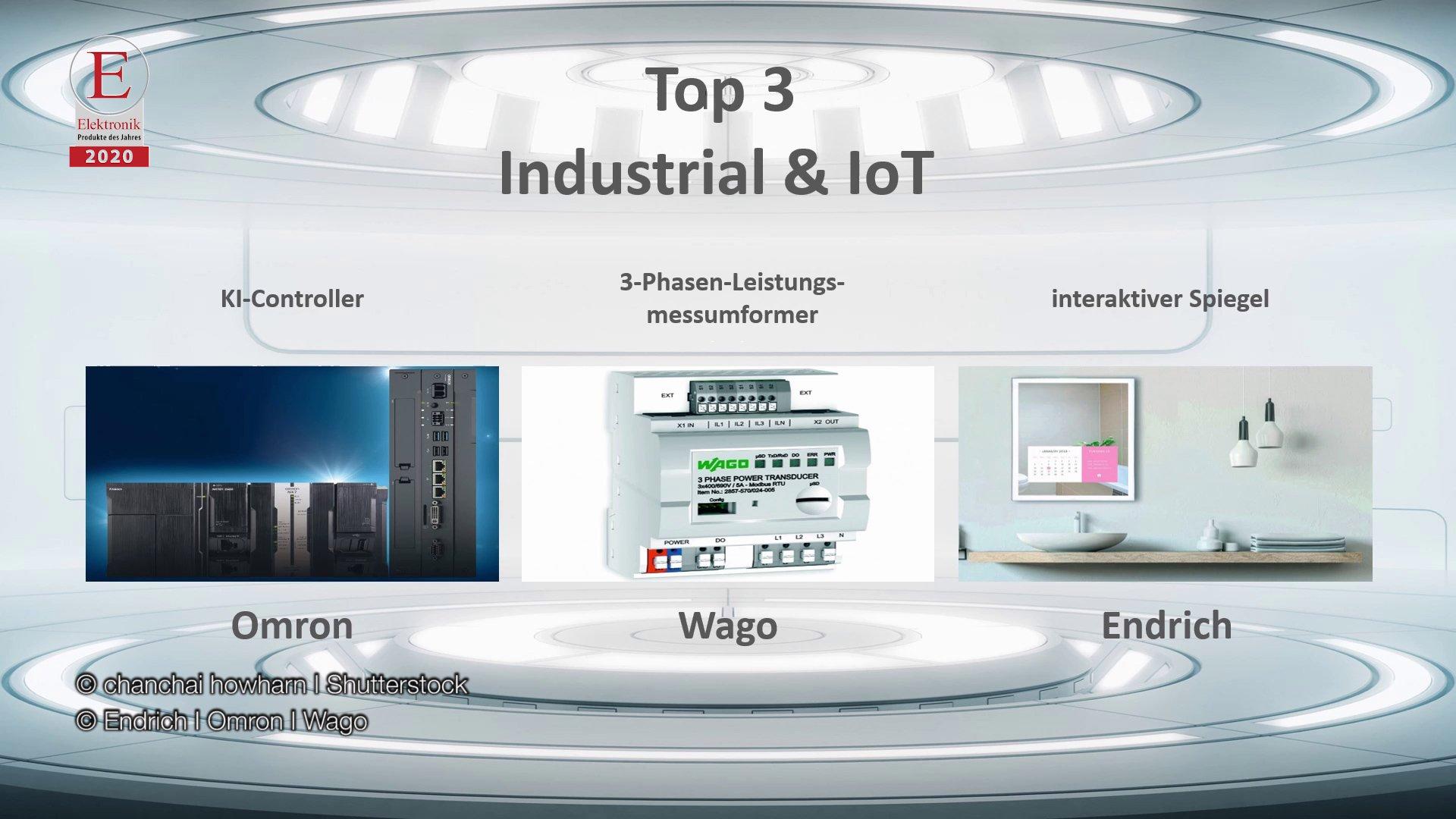 Die »Produkte des Jahres 2020« in der Rubrik »Industrial & IoT«