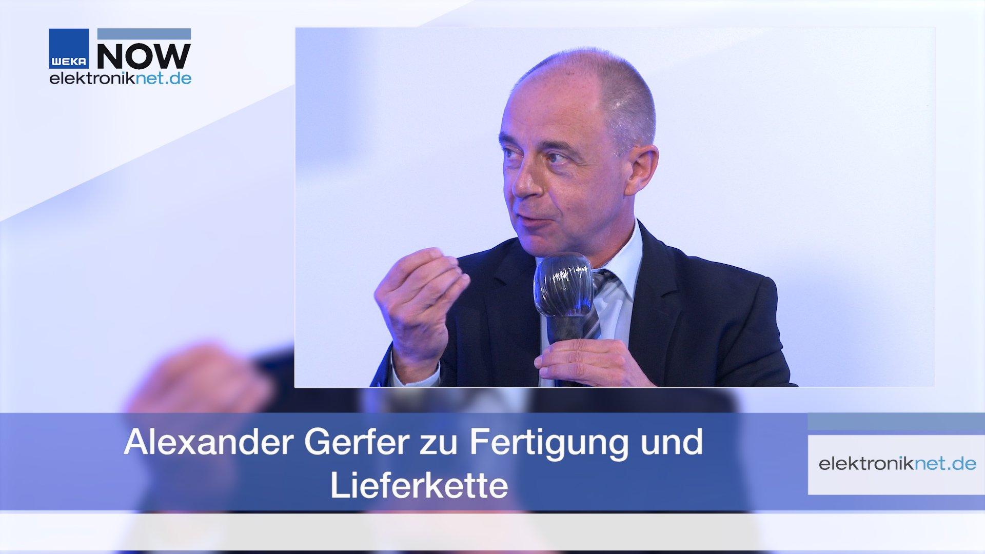 Alexander Gerfer zu Fertigung und Lieferkette