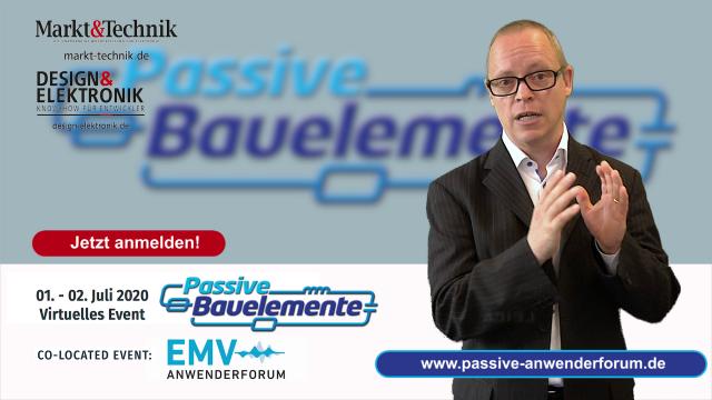 """Bereits nächste Woche, vom 01.-02. Juli 2020, findet das 5. Anwenderforum """"Passive für Profis"""" als VIRTUELLE KONFERENZ statt. Im Video geben DESIGN&ELEKTRONIK-Redakteur Ralf Higgelke und Markt&Technik-Redakteur Engelbert Hopf einen kurzen Ausblick. Das komplette Programm und alle Infos zur Anmeldung finden Sie hier: www.passive-anwenderforum.de"""
