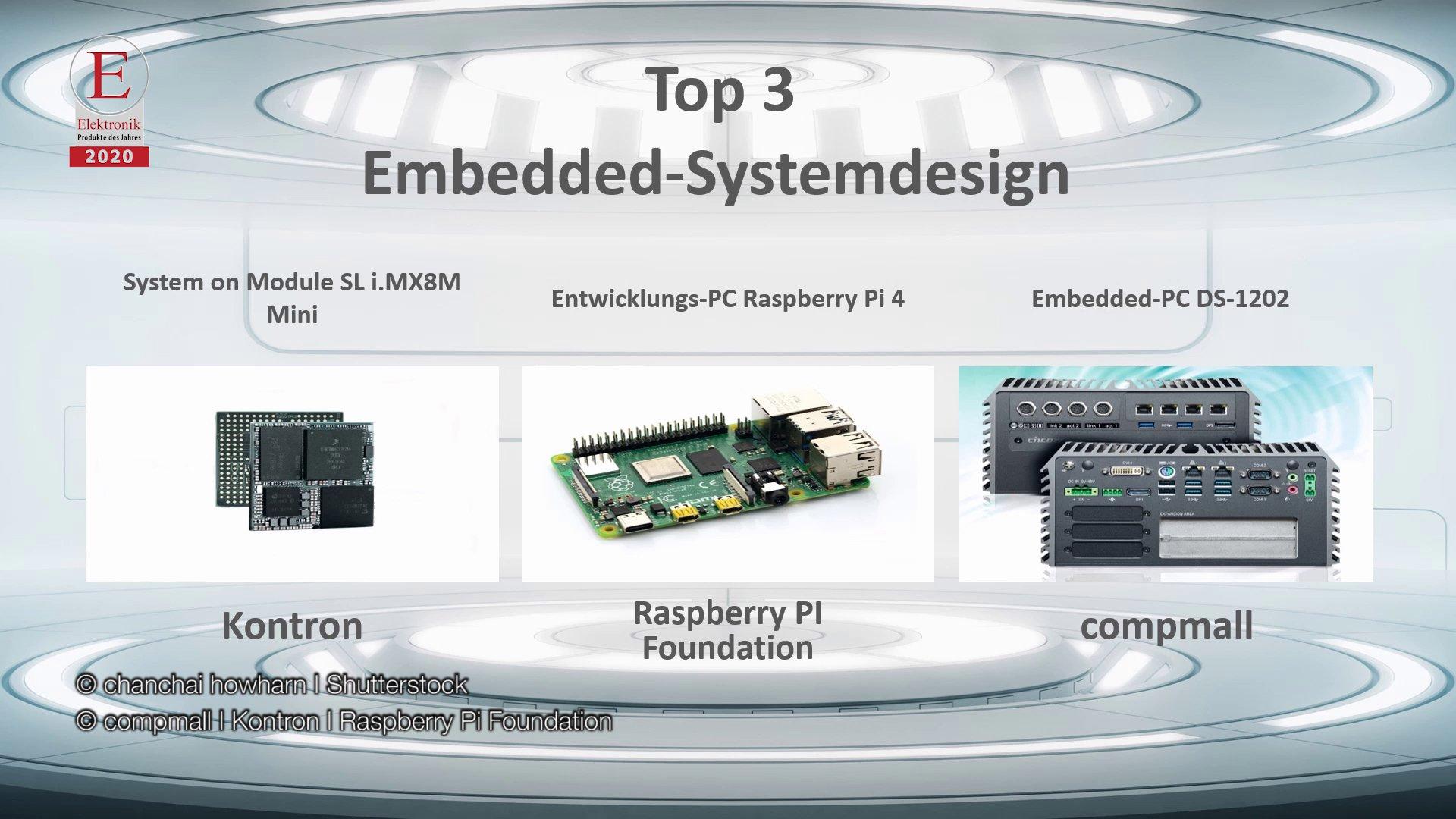 Die »Produkte des Jahres 2020« in der Rubrik »Embedded-Systemdesign«
