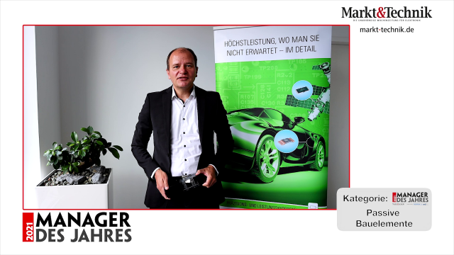 Markt&Technik »Manager des Jahres 2021« in der Kategorie Passive Bauelemente: Anton Roth, Global Sales Director Components bei Isabellenhütte Heusler. #mdj2021