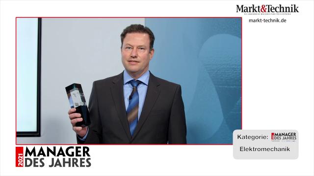 Markt&Technik »Manager des Jahres 2021« in der Kategorie Elektromechanik: Dr. Kurt Woelfl, Geschäftsführer von ODU. #mdj2021