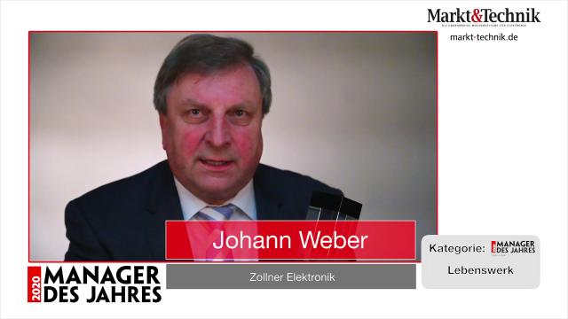 Markt&Technik »Manager des Jahres 2020« in der Kategorie Lebenswerk: Johann Weber, Vorstandsvorsitzender von Zollner Elektronik.