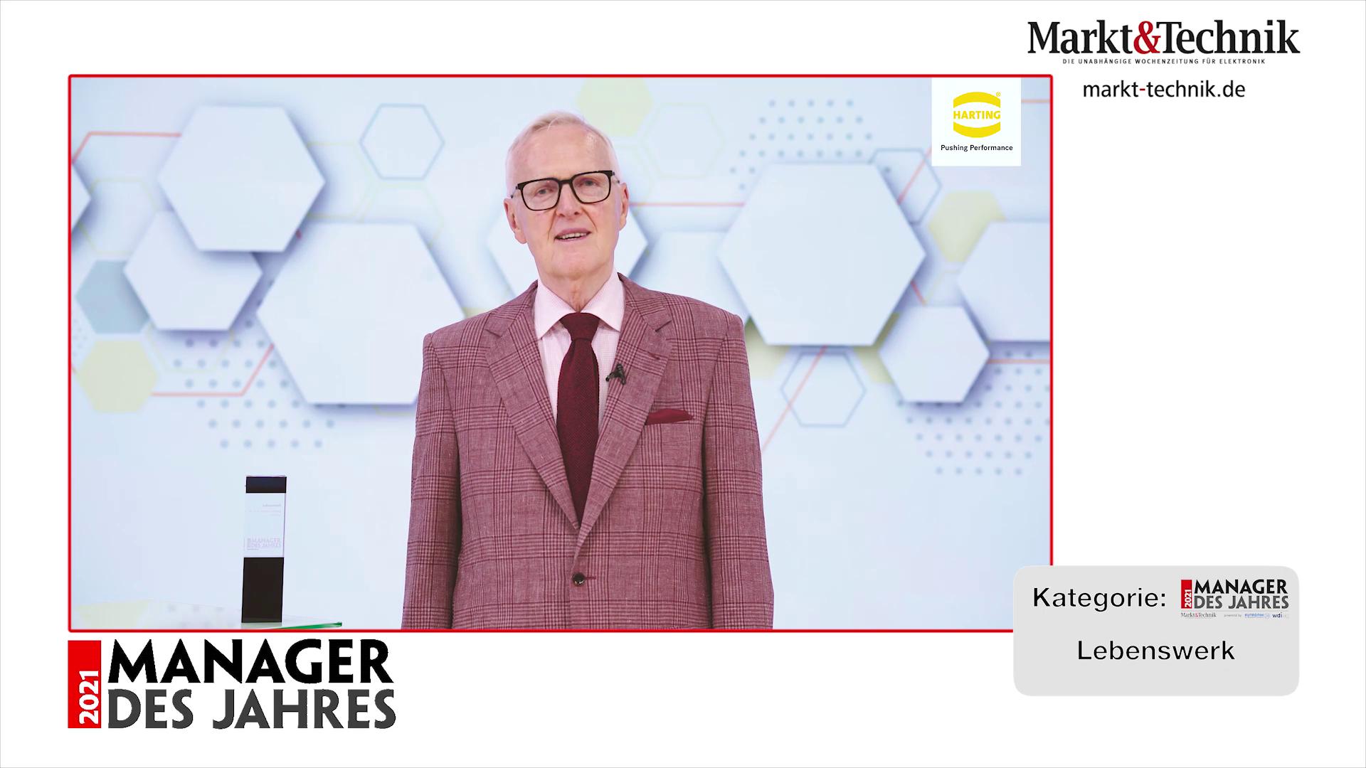 »Manager des Jahres 2021«: Dr. Dietmar Harting