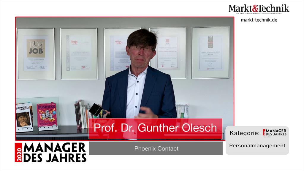 »Manager des Jahres 2020«: Prof. Dr. Gunther Olesch