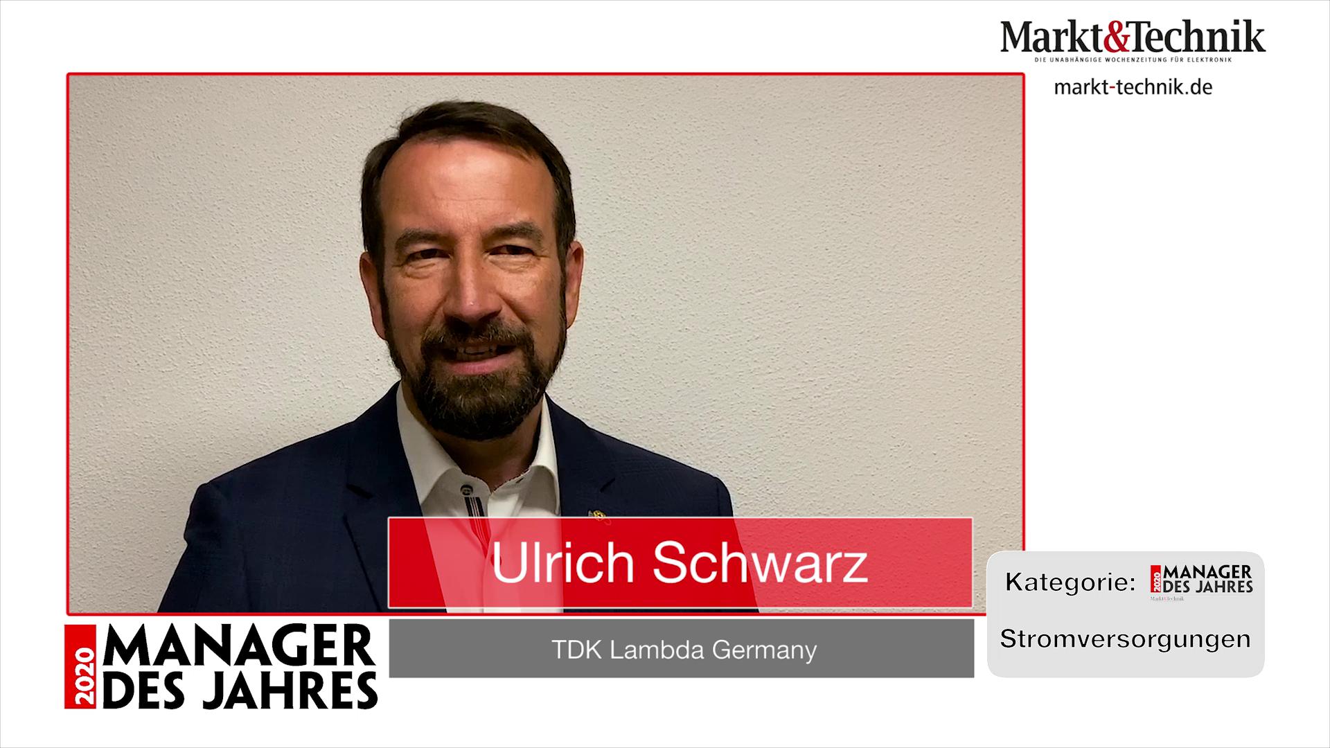 »Manager des Jahres 2020«: Ulrich Schwarz